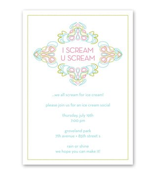 personalized ice cream party invitation 1 of 8 redstampcom