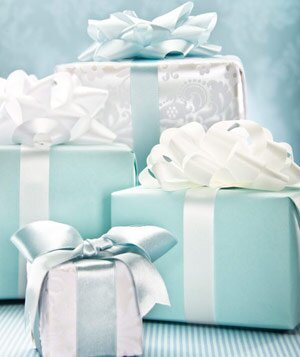 Group Of Blue And White Wedding Gifts Landscape