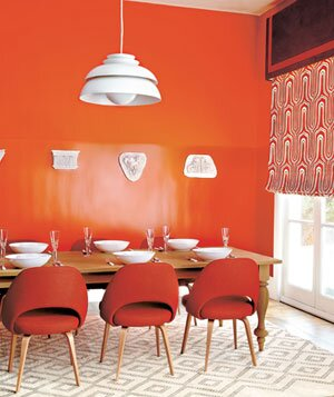 Gorgeous Orange Rooms, Plus Paint and Furniture Picks | Real Simple