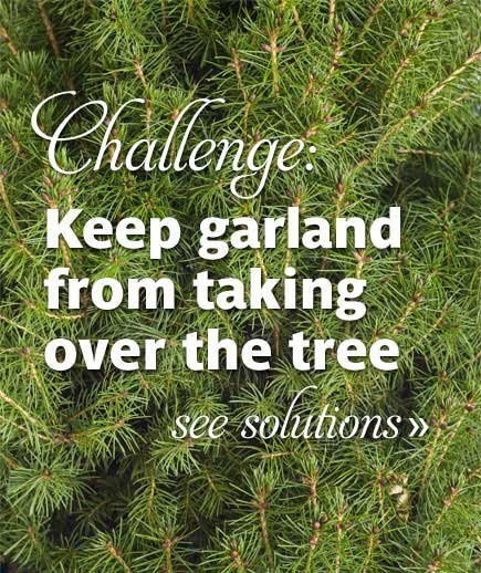 Festive christmas tree decorating ideas real simple challenge keep garland from taking over the tree publicscrutiny Image collections