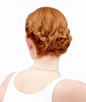 The Side French Braid Bun