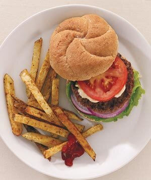 5 fast food recipes real simple california burgers with spicy oven fries forumfinder Image collections