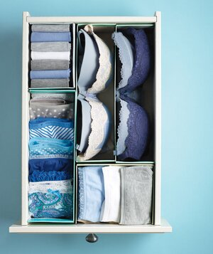How to store bras and lingerie real simple new use shoe boxes as drawer dividers solutioingenieria Image collections