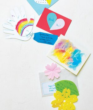 5 tips for writing thank you notes with kids real simple thank you cards made by children altavistaventures Choice Image