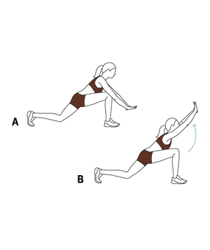 Illustration of a low lunge arch