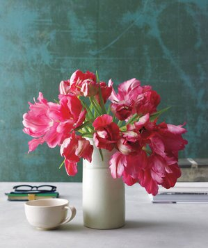 How to arrange flowers real simple pink tulip bouquet in a vase mightylinksfo Choice Image