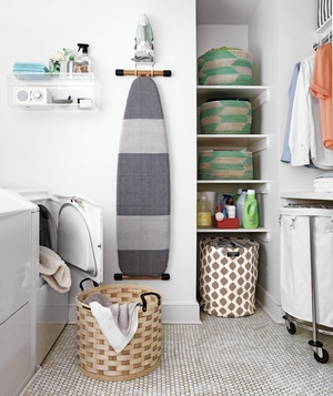 laundry room decor and organizing ideas | real simple Large Laundry Room Ideas