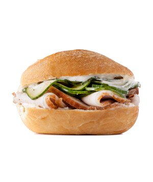 10 best sandwich recipes real simple roast pork and pickled cucumber sandwich forumfinder Images