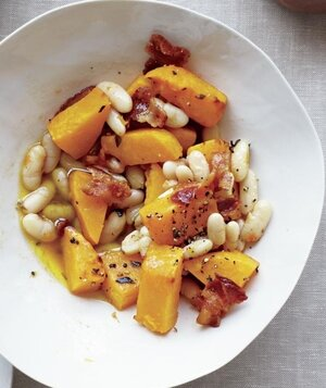 26 recipes for canned beans real simple pumpkin with white beans and bacon forumfinder Images