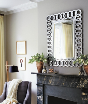 Feng Shui fireplace and mirror