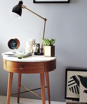 The best bedside tables real simple bedside table with lamp and other decor mozeypictures