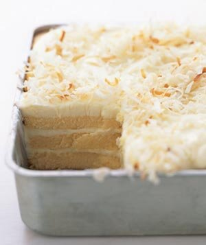 Our 30 most popular desserts on pinterest real simple toasted coconut refrigerator cake forumfinder Image collections
