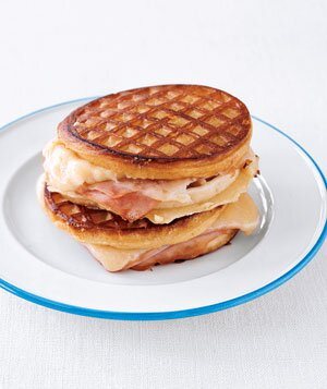 10 easy cheesy recipes real simple grilled ham and cheese waffle sandwiches forumfinder Images