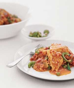 Spanish chicken and rice recipe real simple spanish chicken and rice forumfinder Choice Image