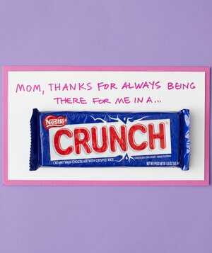 Crunch Candy Mother S Day Card