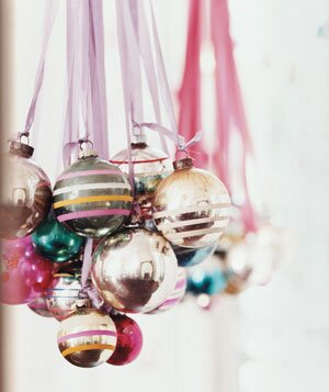 New uses for ornaments real simple ornament chandelier mozeypictures Image collections