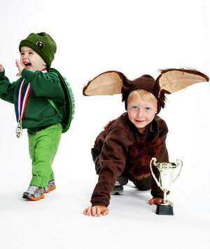 Simple halloween costumes real simple tortoise and hare costumes solutioingenieria Choice Image