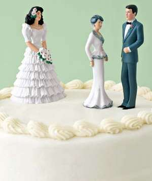 Figurines of bride  groom and groom s mother on a wedding cakeWedding Planning  Common Problems  Solved   Real Simple. Real Simple Wedding Cakes. Home Design Ideas