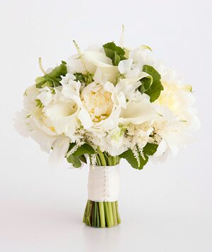 White wedding flowers real simple bouquet of calla lily and peony mightylinksfo