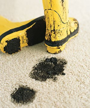 Homemade carpet cleaning solutions real simple muddy yellow boots on carpet solutioingenieria Gallery