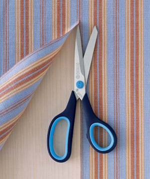 real simple office supplies. scissors with striped fabric real simple office supplies