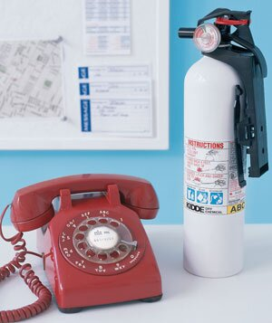 How to prepare for a babysitter real simple phone and fire extinguisher on a table negle Image collections