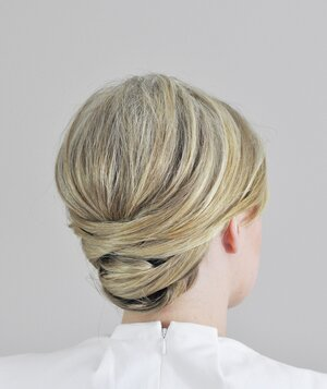 A easy diy wedding updo real simple wrapped updo final junglespirit Choice Image