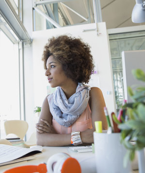 how to meditate in office. Woman At Work Staring Out Window How To Meditate In Office G