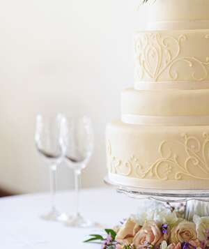 Wedding cake and wine glassesHow to Negotiate With Wedding Vendors   Real Simple. Real Simple Wedding Cakes. Home Design Ideas