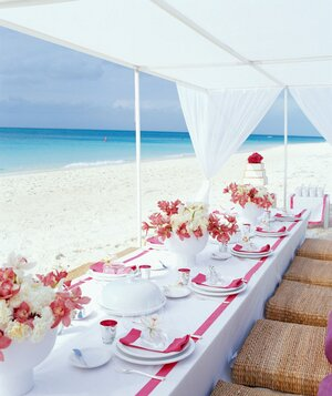 How to plan a destination wedding real simple small beach wedding reception junglespirit Gallery