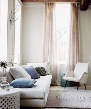 Beige room with light pink curtains16 Apartment Decorating Ideas   Real Simple. Living Room Ideas Apartment. Home Design Ideas