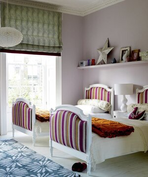 Children's bedroom decorated with patterns