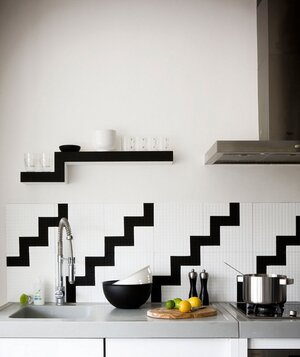 black and white backsplash - Decorating Ideas