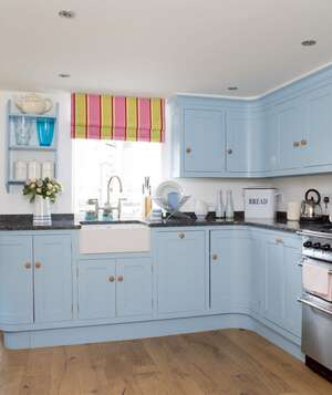 blue kitchen cabinets - Simple Kitchen Decorating Ideas