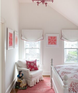 Pink accented bedroom