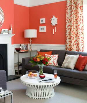red living room - Simple Interior Design Living Room