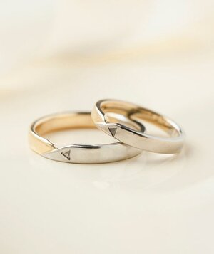 13 unique wedding rings real simple two wedding bands junglespirit Gallery