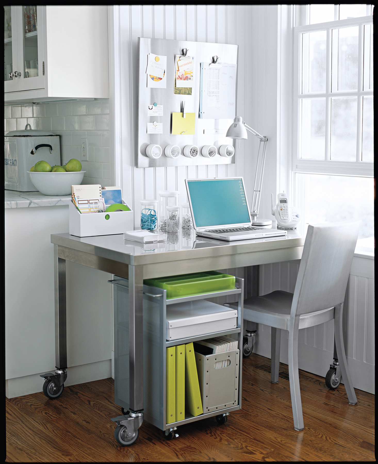 home office simple. Home Office In Corner Of Kitchen Simple C
