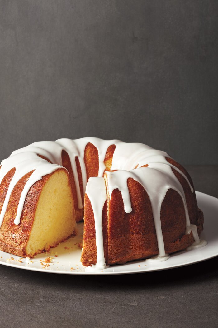 Easy cake recipes real simple glazed lemon pound cake forumfinder Choice Image