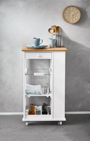 Lidl\'s New Kitchen Cart Has a Built-In Wine Rack—And It\'s Only $50 ...