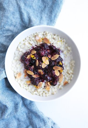 How to cook barley for breakfast real simple mixed berry barley breakfast bowl forumfinder Gallery