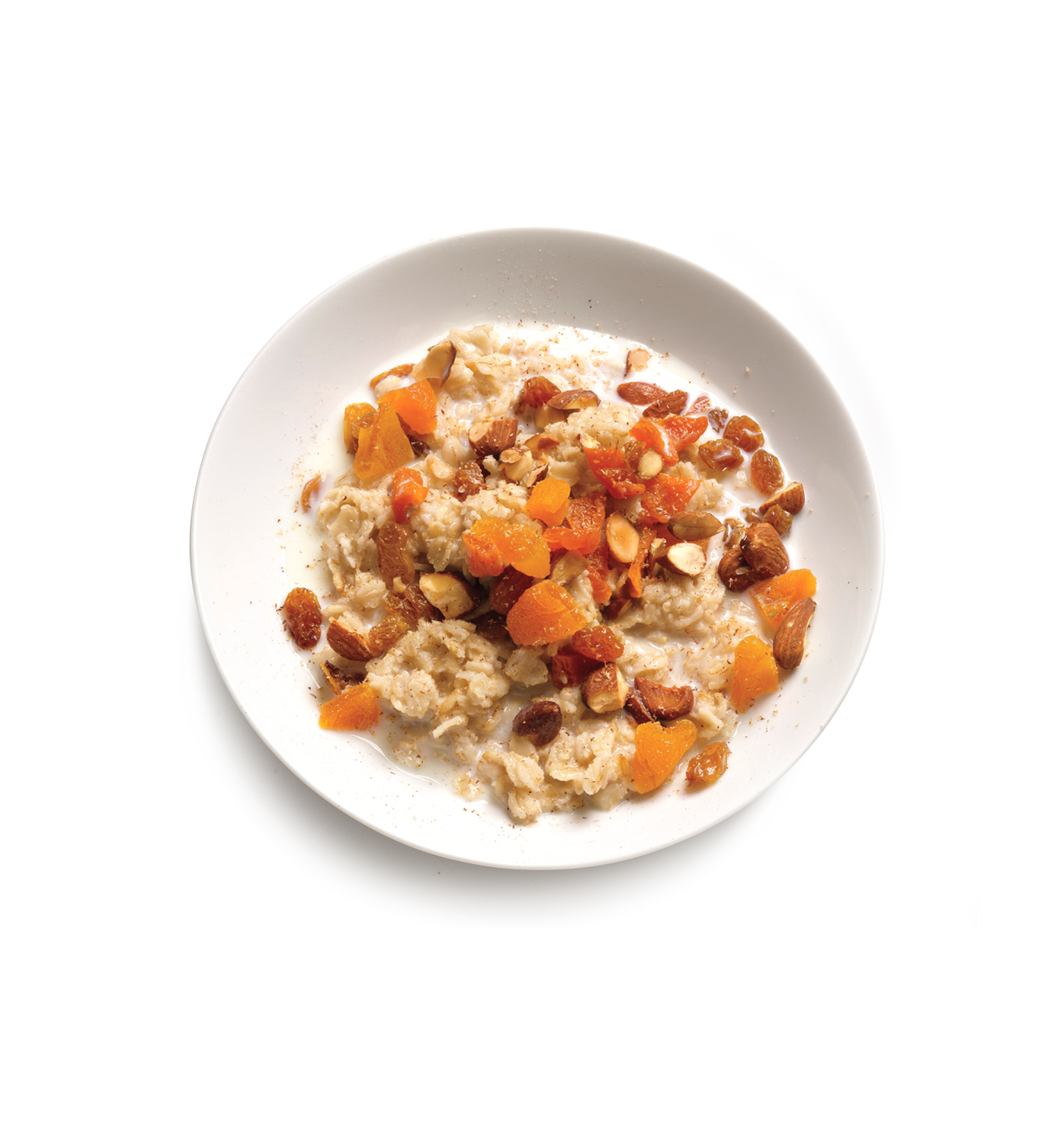 Oatmeal With Apricots and Raisins