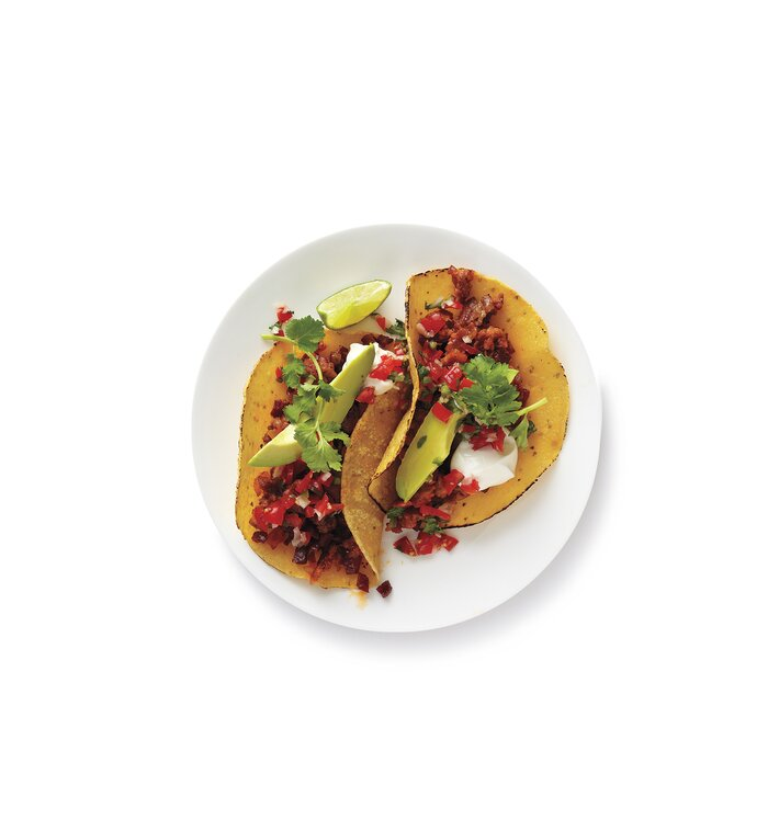 10 easy ground turkey recipes real simple ground turkey and chorizo tacos forumfinder Gallery