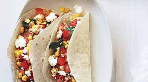 30 minute meals real simple vegetarian tacos with goat cheese sisterspd