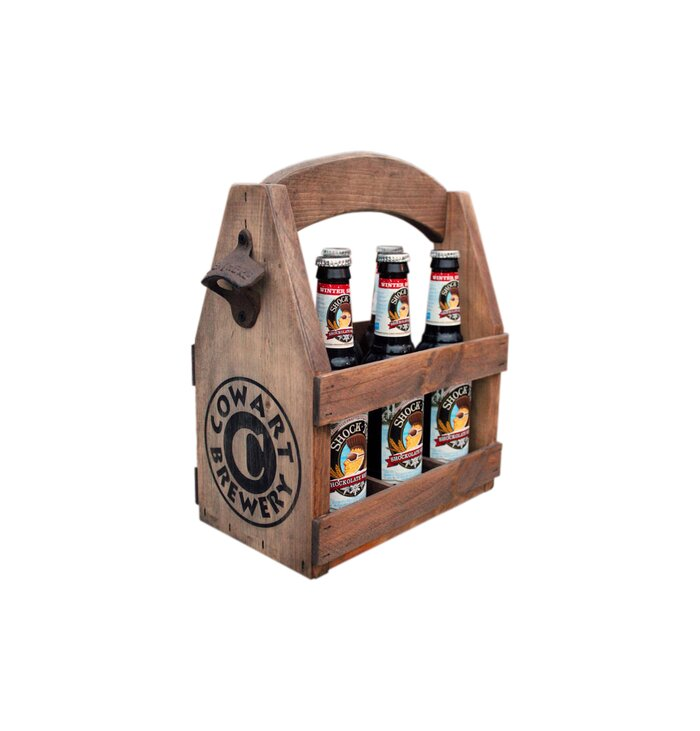 The best gifts for dad real simple wooden six pack beer tote negle Images