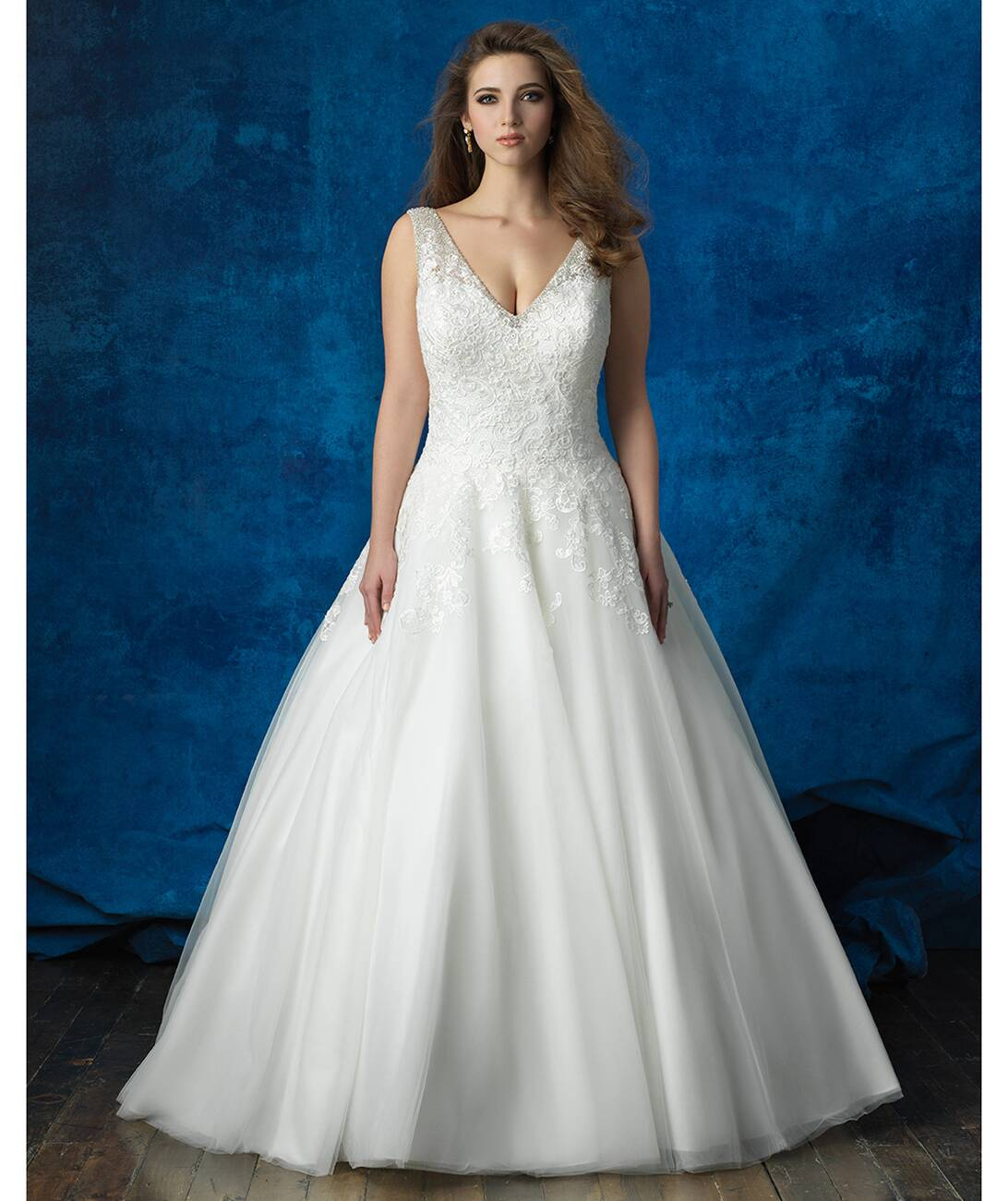 Allure Bridals Lace And Tulle Ballgown