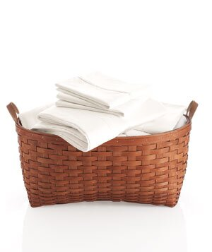 White Sheets In Basket