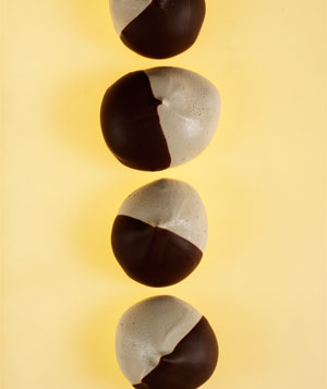 Chocolate-Dipped Espresso Meringues