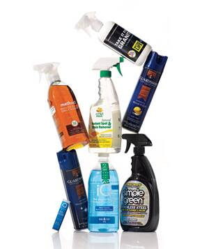 Bottles Of Surface Spray Cleaners