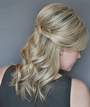 How To Do A Half Up Twist Hairstyle Real Simple
